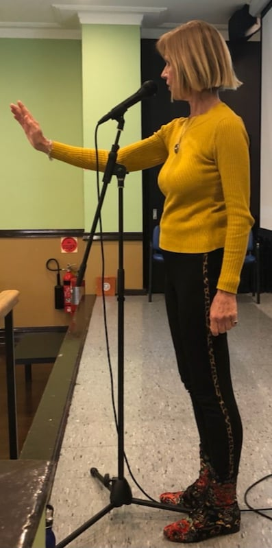 Jenni performs 'Lily and the Bzou' at the Australian Fairytale Society Conference, Sydney 2021