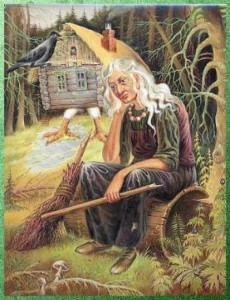Baba Yaga soft white hair