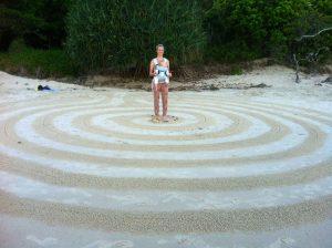 Beach-labyrinth-Byron-Bay-Sacred-Circle-Labyrinths-Story Tree-Jenni-Cargill-Strong