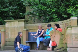 Participants at Jenni's workshop at the Royal Botanical Gardens in Sydney