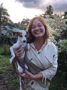 Jacquelina and dog