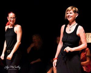 Jenni tells 'The Quim's Tale' and interpreter Byron Theatre