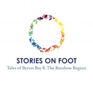 STORIES ON FOOT_LOGO_text below circle