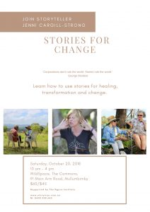 Stories for Change poster oct 20 2018 FINAL