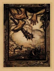 jack-and-beanstalk collectors prints arthur rackham