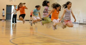 kids skipping foothill force skiping team big