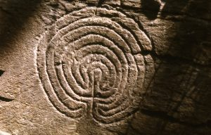 stone carving labyrinth photo
