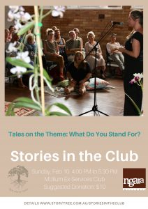 Stories in Club Feb 2019 poster